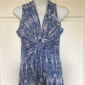 Maxi Dress Boston Proper (S) VNeck Sleeveless Blue